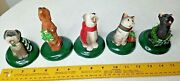 Vintage 1994 Byers Choice Ltd. The Carolers 5 Lot Set Dogs And Cats Carolers