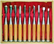 Japanese Chisel Nomi Tools Wood Carving Akatsuki Wood Carving Only 10-piece Set