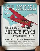 1978 Watsonville California West Coast Antique Airplane Fly-in Air Show Poster