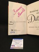 Signed Drinking And Dating Brandi Glanville Psa First Edition Autographed Book
