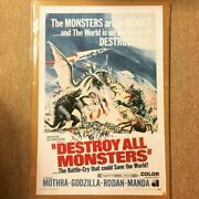 Cloth Poster Monster Total Attack Godzilla Destroy All Monsters