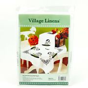 Halloween Stamped Cross Stitch Table Topper Kit Eat Drink And Be Scary Village Lin