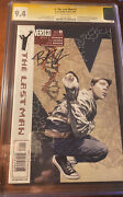 Y The Last Man 1 Cgc Ss 9.4 Signed Brian K. Vaughan