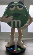 Green Mandm's Candy Character Collectible Large Store Display 39 Rare On Wheels