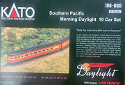 Kato N Scale 106-060 Southern Pacific Morning Daylight 10 Car Passenger Set