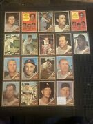 1962 Topps Baseball Cards Lot Vg Hof Stars Vets Upgrade Your Collection