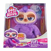 Pets Alive Fifi The Flossing Sloth Dancing Battery-powered Robotic Toy By Zuru