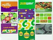 Subway Gift Card - Lot Of 10 - Sandwich Restaurant - Easter, Christmas -no Value