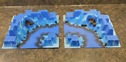 2 - Lego 6024 Neptune Discovery Lab Blue 3d Raised Base Plates 32x32