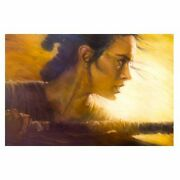 Star Wars The Force Awakens Rey By Christopher Clark Canvas Giclee Art Print