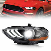 1pcs Led Projector Headlights For Ford Mustang 2018 2019 2020 Headlamps Assembly