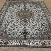 6and039x9and039 Handmade Silk Rug Medallion Indoor Home Office Traditional Carpet 1230