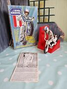 Vintage Evel Knievel Stunt Cycle And Figure And Energizer Boxed 197 Excellent