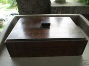 Antique Wooden Family Bible Box-hand Made-12.25 X 9 X 4.5