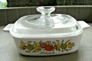 Rare 182 Stamp Vintage Corning Ware Land039echalote A -1 -b Spice Of Life 1 Quart