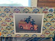 Three Stooges Fire Engine Cookie Jar - Collectible Andnbspnew In Box
