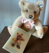 1986 Steiff Teddy Bear Jackie Jointed Limited Edition W/tags Button Booklet