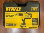 Dewalt Dce200m2 20v Max Pipe Press Tool Brand New Dcb204 Battery And Charger