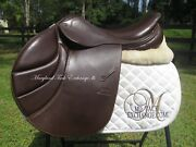 17.5 Stubben Portos Deluxe Close Contact Jumping Saddle 31 Cm Wide Tree-2016