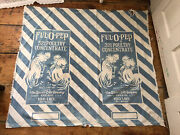 Vintage Antique Ful O Pep Poultry Feed Bag Sack Quaker Oats Co Rooster Farmhouse