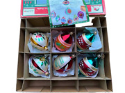 Christopher Radko Fantasia 6 Blown Glass Ornaments In Box With Pamphlet