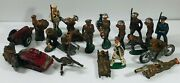 Vintage Toy Lead Soldier Barclay  Lot Of 20 Pieces