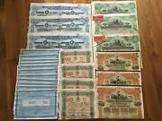 Lot Of 24 Bond China Russia Usa Loan Chinese Russian United States Uncancelled