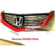 Oem R81 Front Grille +euro R Emblem 06-07 Acura Tsx, Accord Cl7 Cl9 Oem Honda