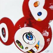 Takashi Murakami Poster And Then Red Super Flat Method Edition 300 Signed.