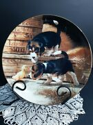 Getting Acquainted Puppy Playtime Collector Plate Jim Lamb Beagle Puppies 1987