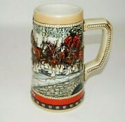 Vintage Budweiser Collectible Drinkable Beer Stein 1988 Anheiser Busch Clydsdale