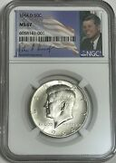 1964 D Ngc Ms67 Silver Kennedy Half Dollar First Year Issue Jfk Coin Signature
