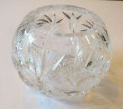 Beautiful Clear Glass Rose Bowl Lead Crystal