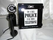 Gamewell Police Call Box Telephone Antique Station Phone Officer Fire Alarm Old