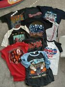 Vintage 80s Band T-shirt Lot Of 10 Acdc Kiss Zz Top The Who Motley Crue Rare