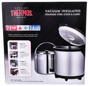 Thermos Cc-4500p Stainless Steel Cook And Carry Thermal Cooking Pot 4.5 Liter