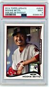 2014 Topps Update Mookie Betts Smiling In Dugout Rookie Rc Us26 Psa 9 [ym859]