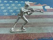 1 Oz 999 Silver Hand Poured Bullion Army Man M16 Silver Toy Soldier By 1776 Mint
