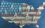 999 Silver Hand Poured Bullion Classic Army Men Set Of 10 Army Men By 1776 Mint