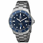 Tag Heuer Wan2111.ba0822 Aquaracer 41mm Menand039s Automatic Stainless Steel Watch