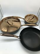 Eurocast Berghoff Professional 5 Pc Starter Set Ouro Black Rose Gold Pans New
