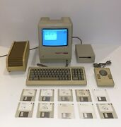 -excellent- 1984 Apple Macintosh 512k Model M0001w Fully Working -must See-