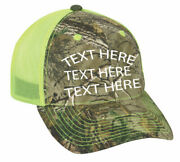 Cap Hat Custom Camo Neon Yellow Business Dog Kennel Name Personalized 12 Caps