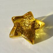 Brand New Citrus Star Signed 1st Quality Fire And Light Recycled Art Glass