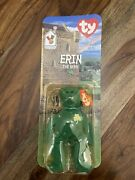 Ty Beanie Baby Erin The Bear 1997 Retired. Authentic With All Errors.