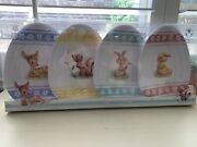 Disney Store Collector Plates Bambi And Friends Egg Shaped Easter Plates Set Of 4