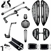 Fandr Floorboards Brake Arm Lever Shifter Linkage Pegs Dash Accessories For Harley