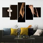 5 Panel Framed Cross Religion Monk Temple Canvas Picture Wall Art Hd Print Decor