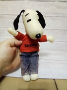 Vintage 1950s/60s Fabric Snoopy With Red Top And Jeans
