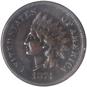1874 Indian Head Cent Extra Fine Penny Xf See Pics H172